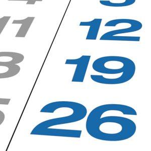 Sonn- und Feiertage in blau