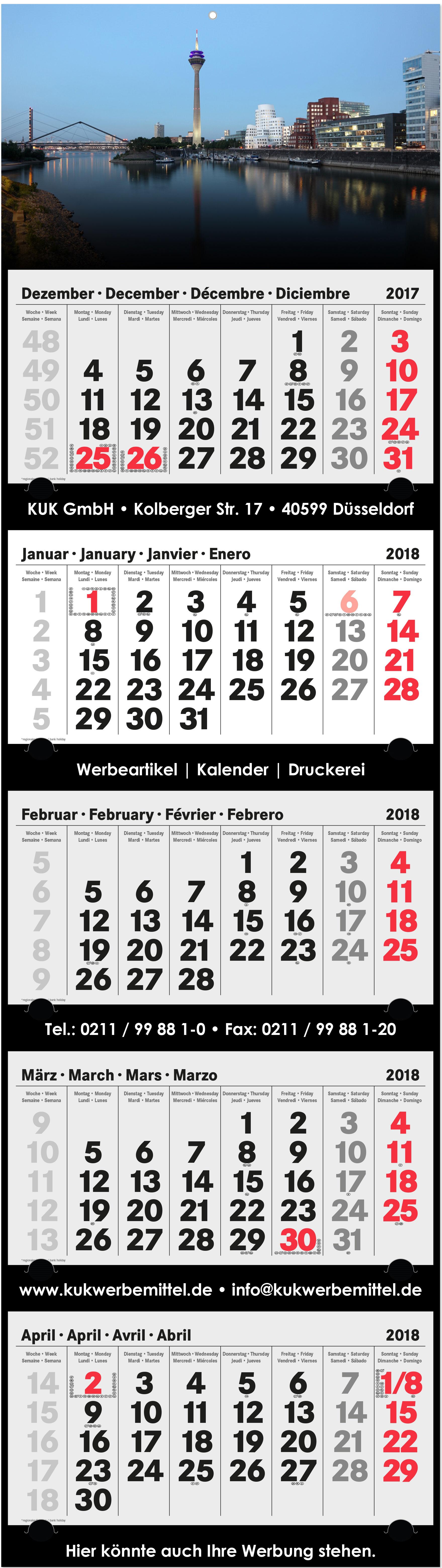 5-Monatskalender 2018 xl