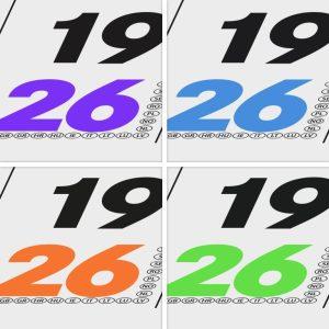 Monatskalender Sonn- und Feiertage in individueller Farbe eingefärbt - w