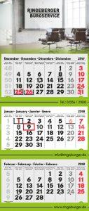 3-Monatskalender Ringeberger Büroservice