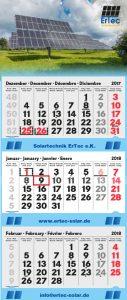 3-Monatskalender Solartechnik ErTec