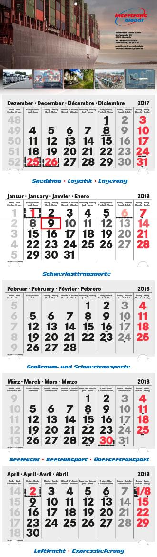 5-Monatskalender Intertrans-Global-Spedition Logistik Lagerung