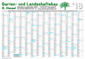 Referenz Wandplaner 2018 Garten u. Landschaftsbau 2018
