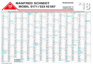 Referenz Wandplaner 2018 Dachdecker